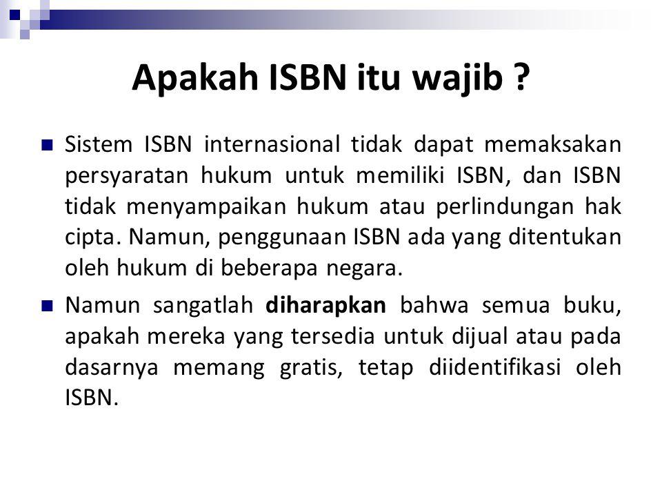 Apakah ISBN itu wajib