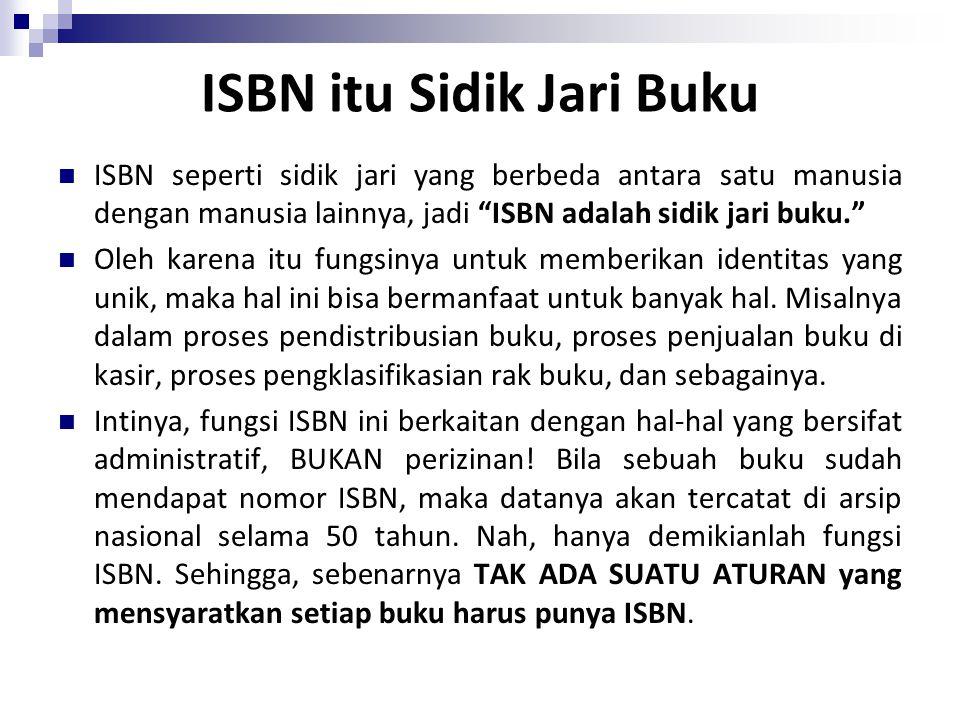 ISBN itu Sidik Jari Buku