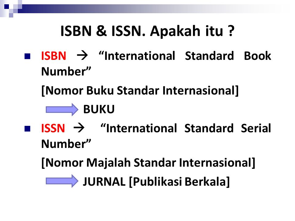 ISBN & ISSN. Apakah itu ISBN  International Standard Book Number