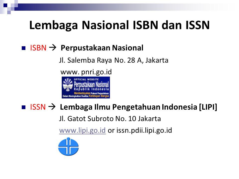 Lembaga Nasional ISBN dan ISSN
