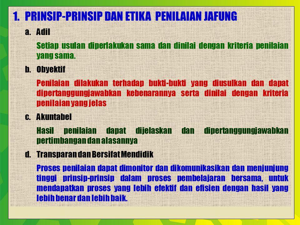 1. Prinsip-Prinsip dan etika Penilaian jafung