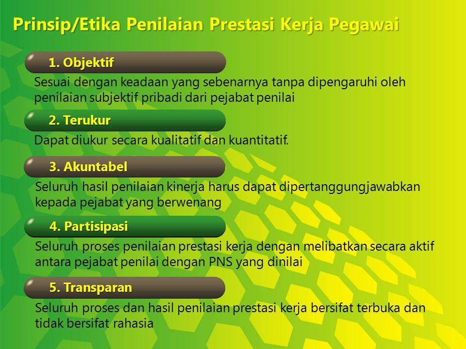 Prinsip/Etika Penilaian Prestasi Kerja Pegawai