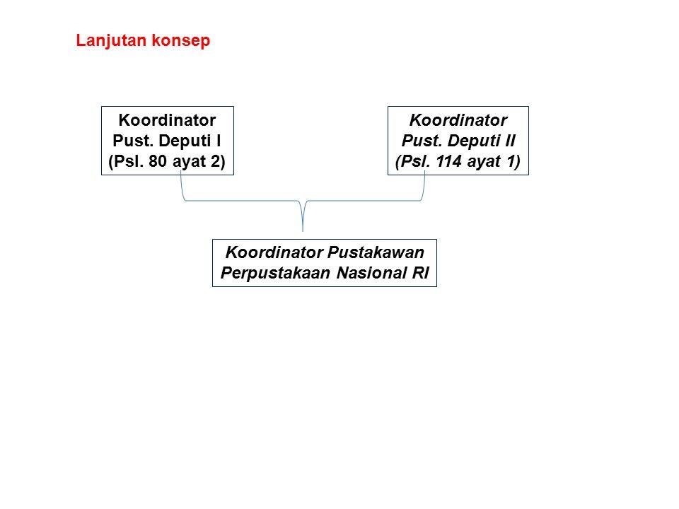 Koordinator Pust. Deputi I (Psl. 80 ayat 2) Koordinator