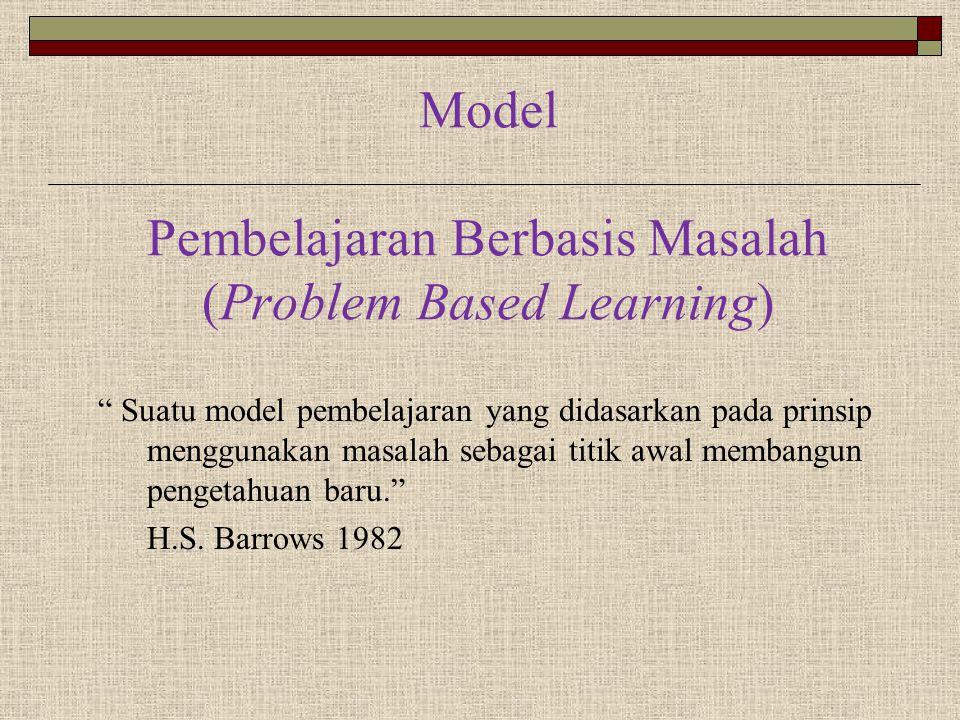Model Pembelajaran Berbasis Masalah (Problem Based Learning)
