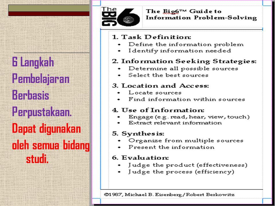 6 Langkah Pembelajaran Berbasis Perpustakaan