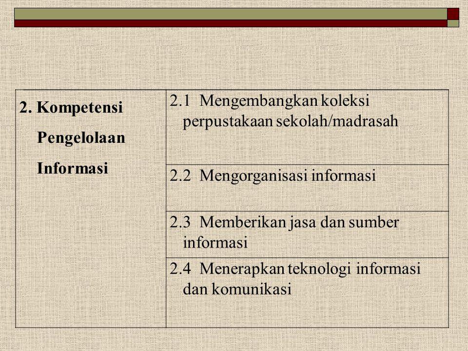 2. Kompetensi Pengelolaan Informasi