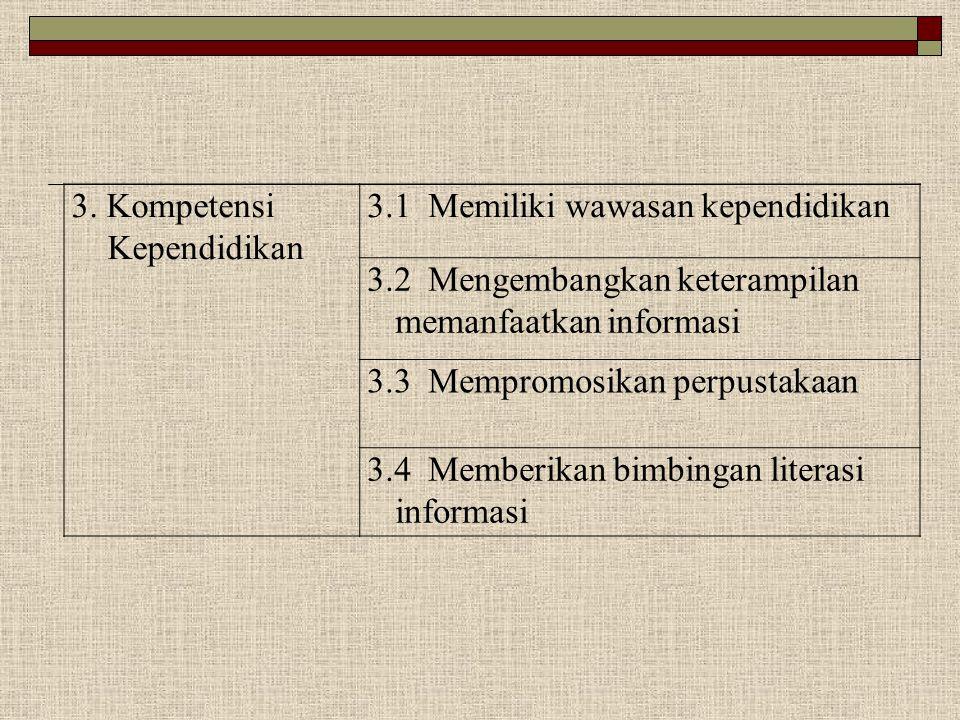 3. Kompetensi Kependidikan