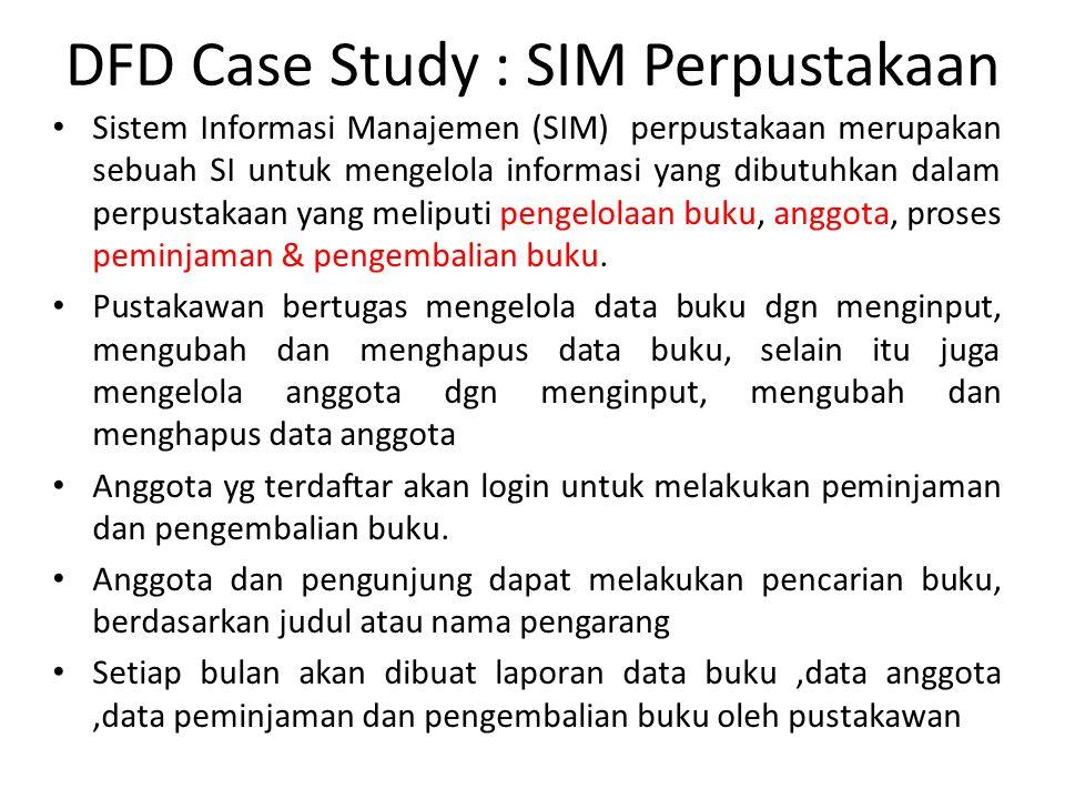 DFD Case Study : SIM Perpustakaan