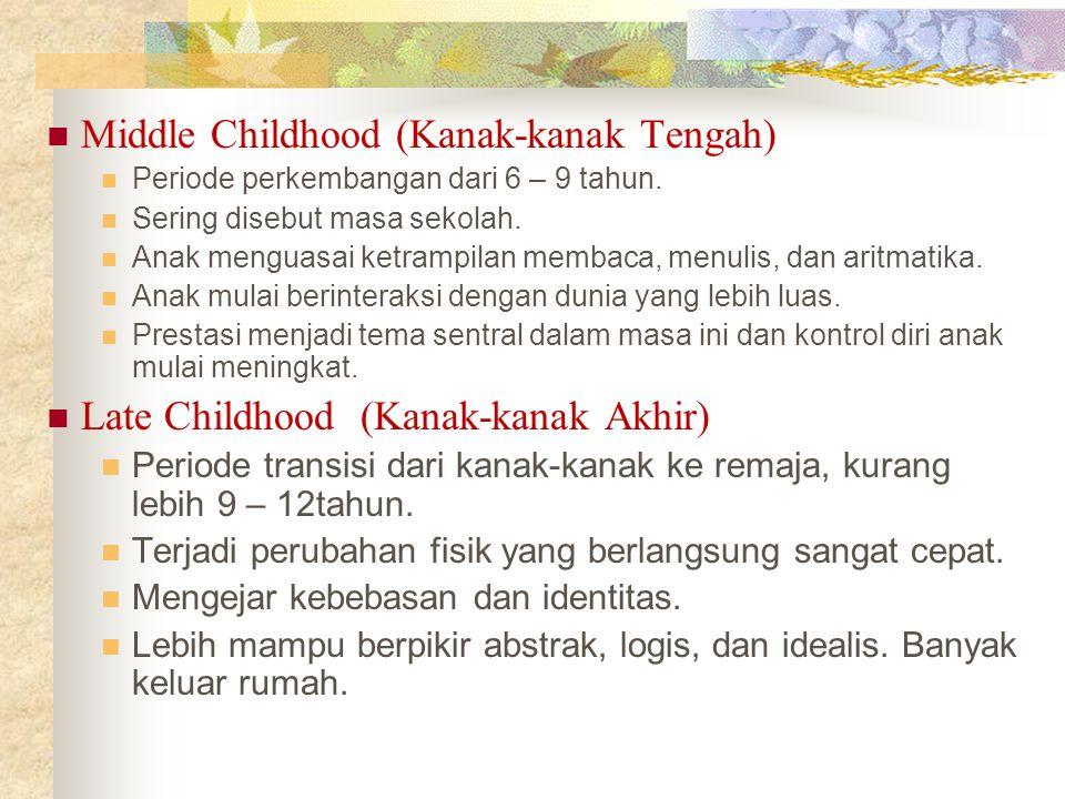 Middle Childhood (Kanak-kanak Tengah)