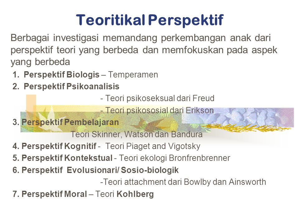 Teoritikal Perspektif