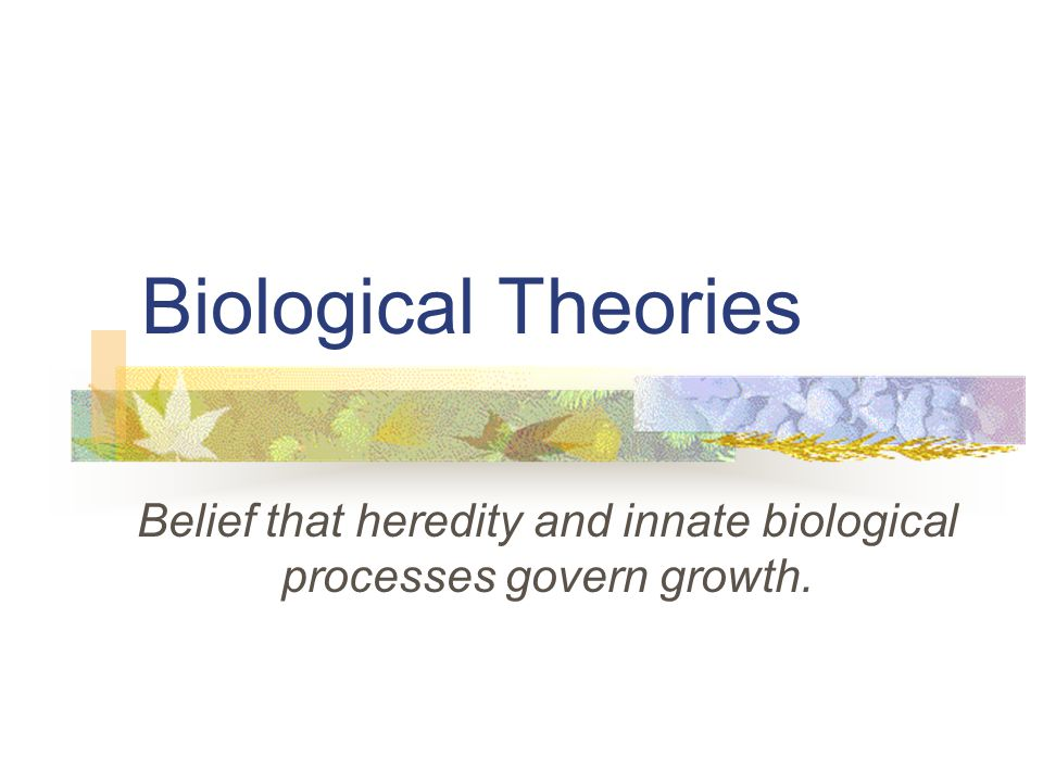 Belief that heredity and innate biological processes govern growth.