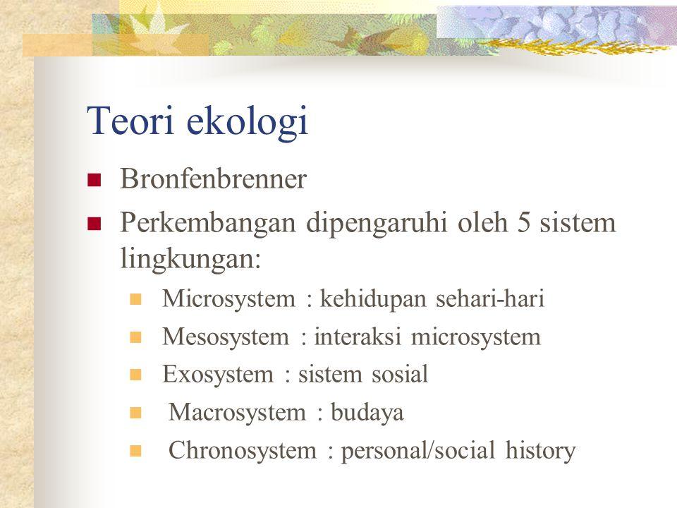 Teori ekologi Bronfenbrenner