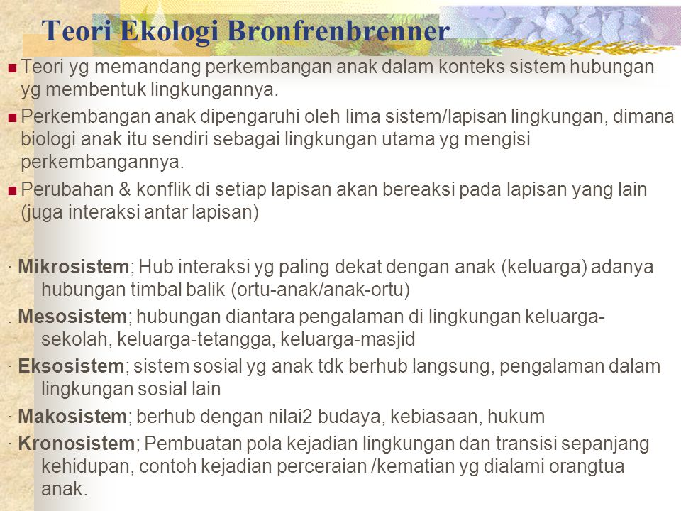 Teori Ekologi Bronfrenbrenner