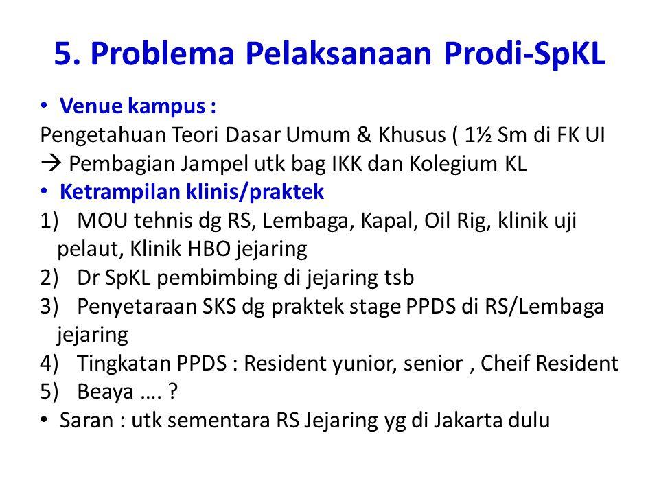 5. Problema Pelaksanaan Prodi-SpKL
