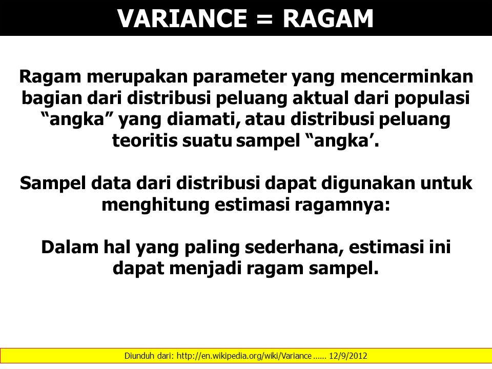 Diunduh dari: http://en.wikipedia.org/wiki/Variance …… 12/9/2012