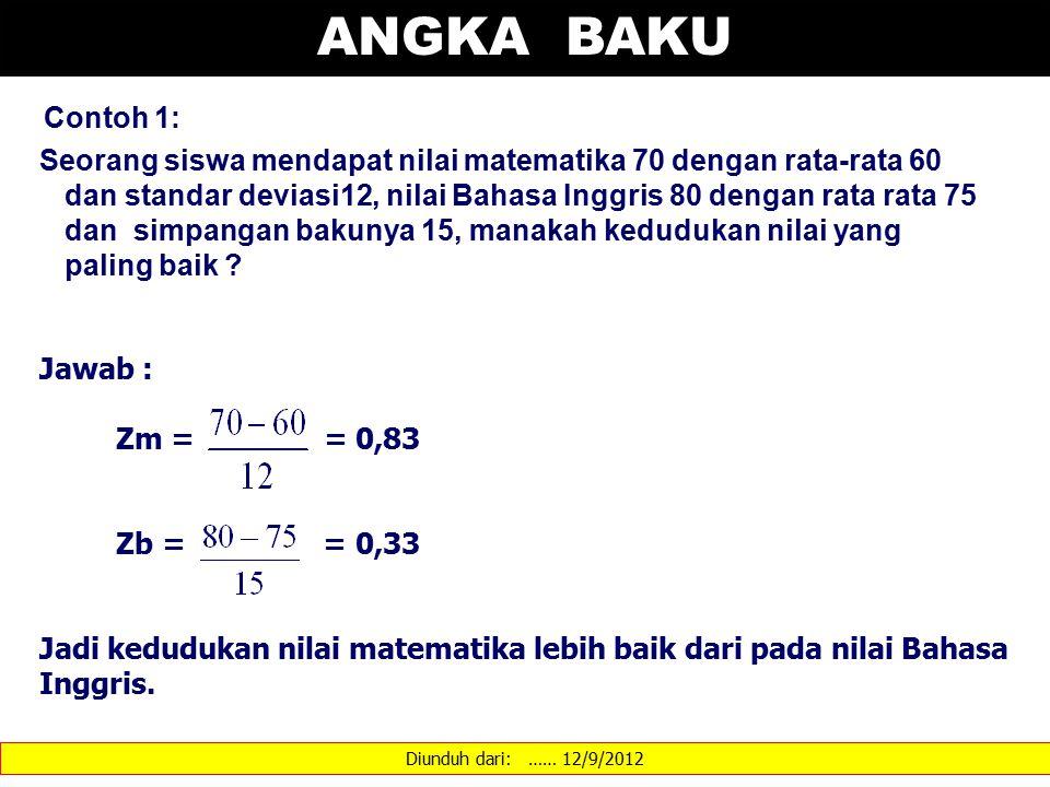 ANGKA BAKU Contoh 1: