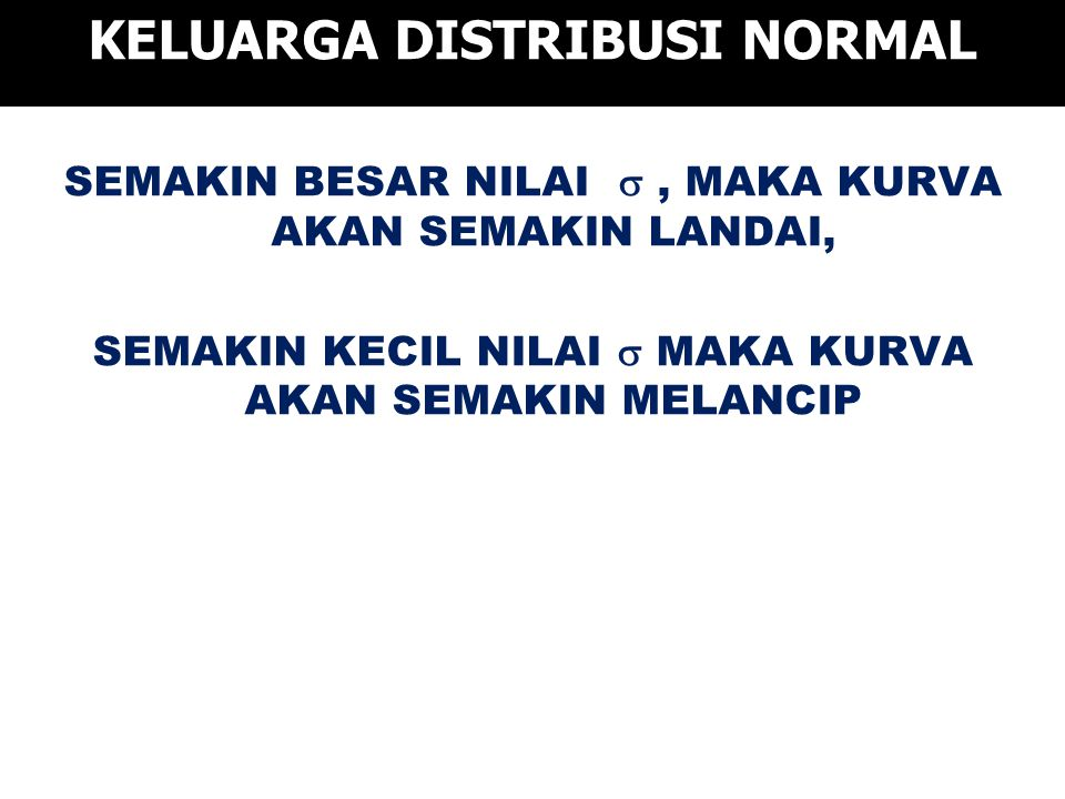KELUARGA DISTRIBUSI NORMAL