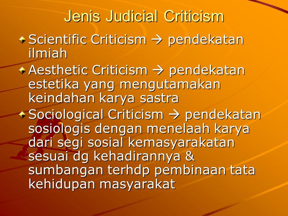Jenis Judicial Criticism