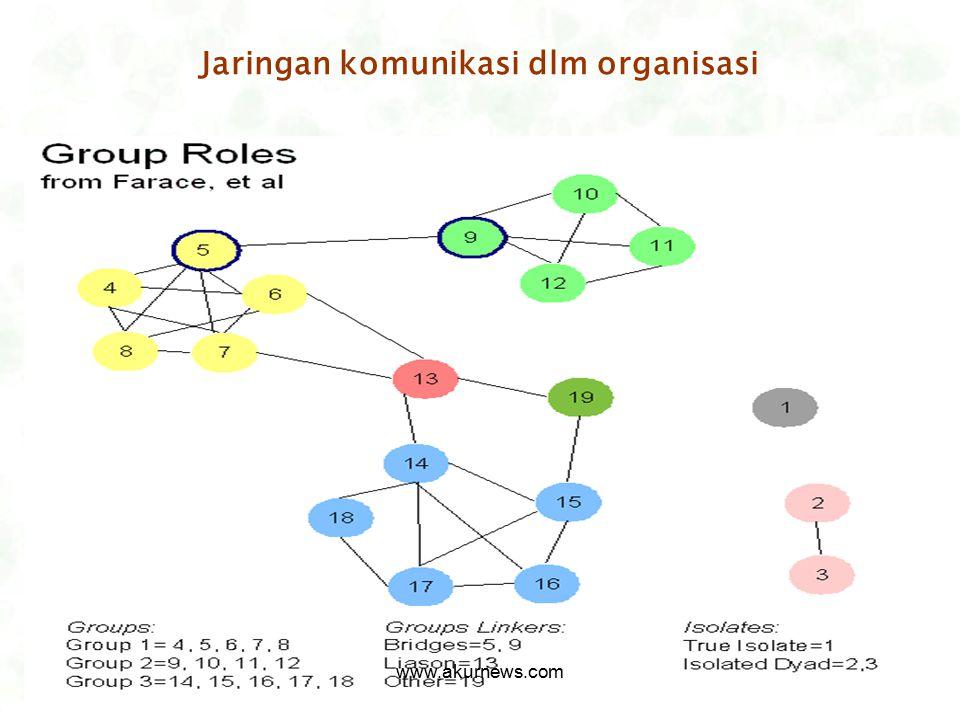 Jaringan komunikasi dlm organisasi