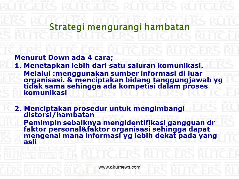 Strategi mengurangi hambatan