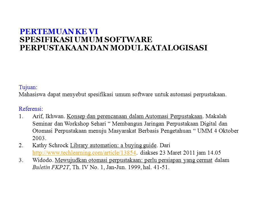 Spesifikasi Software Perpustakaan