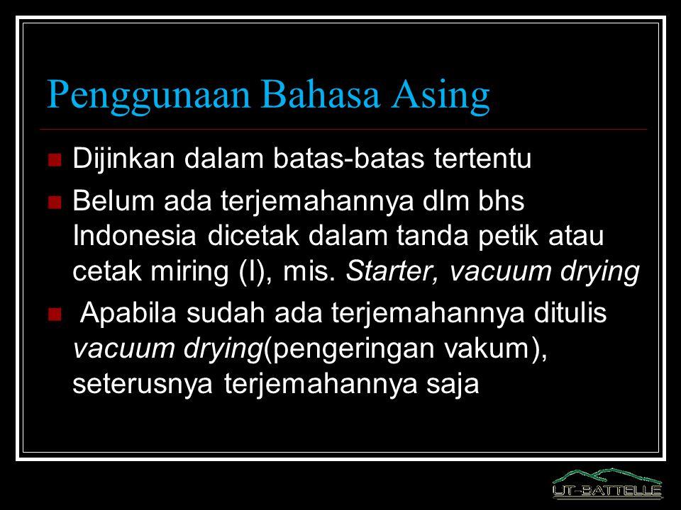 Penggunaan Bahasa Asing