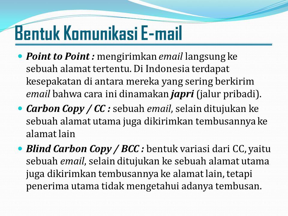 Bentuk Komunikasi E-mail