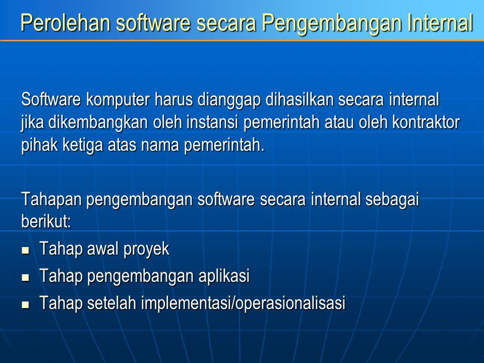Perolehan software secara Pengembangan Internal
