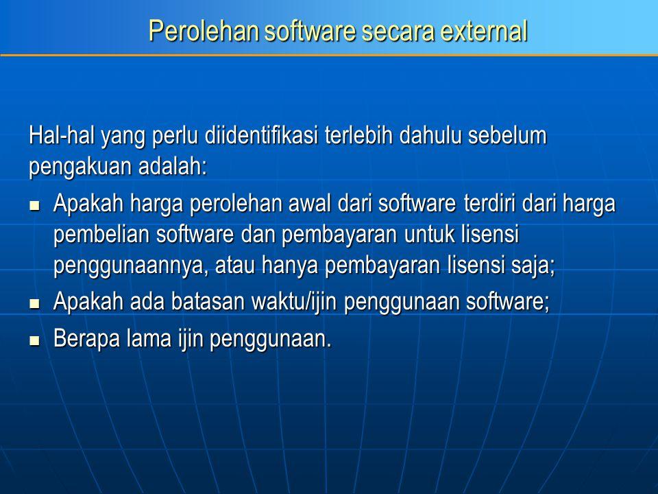 Perolehan software secara external