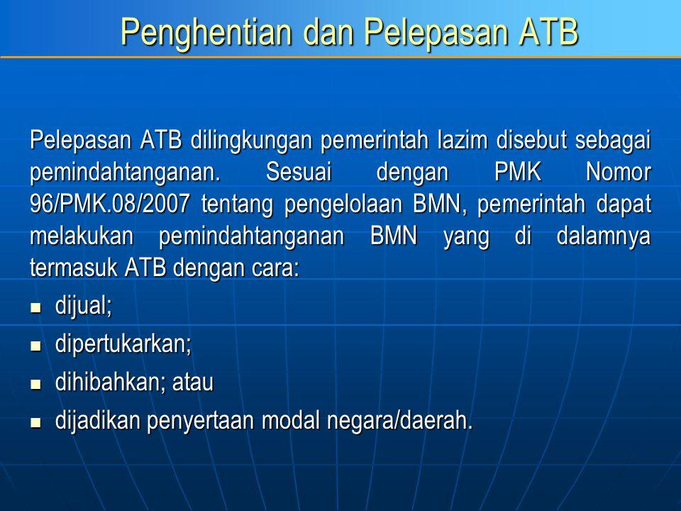 Penghentian dan Pelepasan ATB