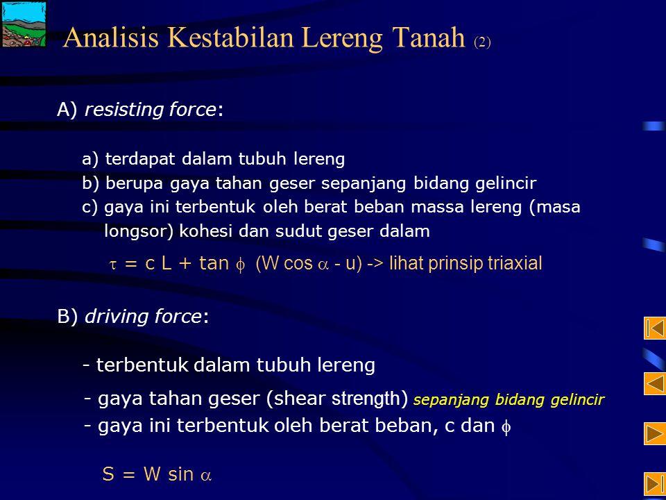 Analisis Kestabilan Lereng Tanah (2)