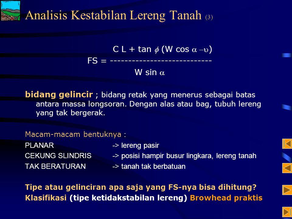 Analisis Kestabilan Lereng Tanah (3)