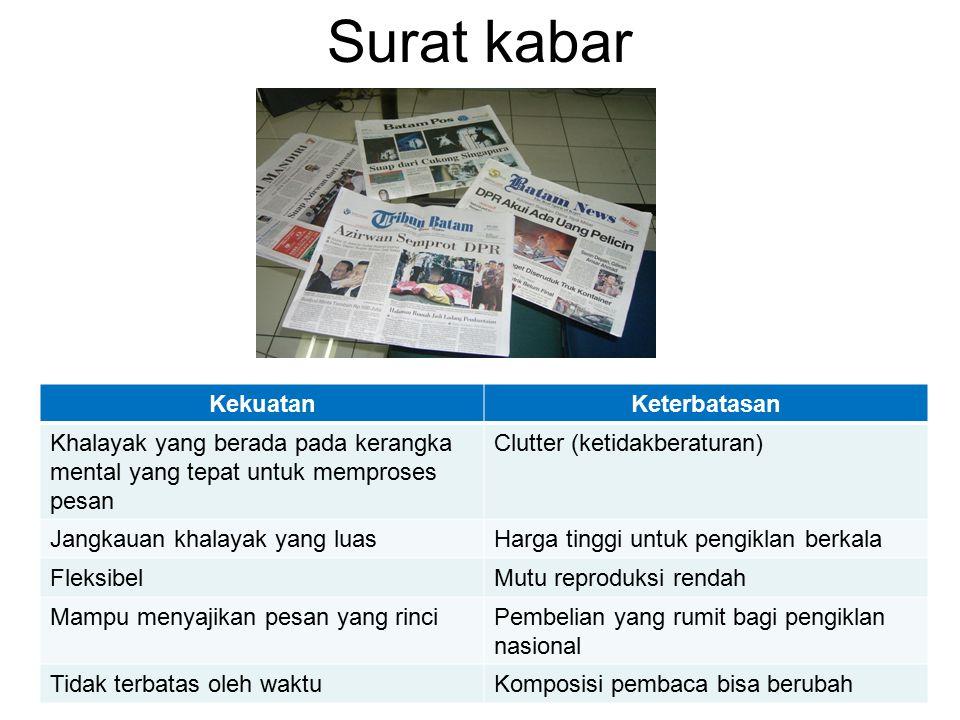 Surat kabar Kekuatan Keterbatasan