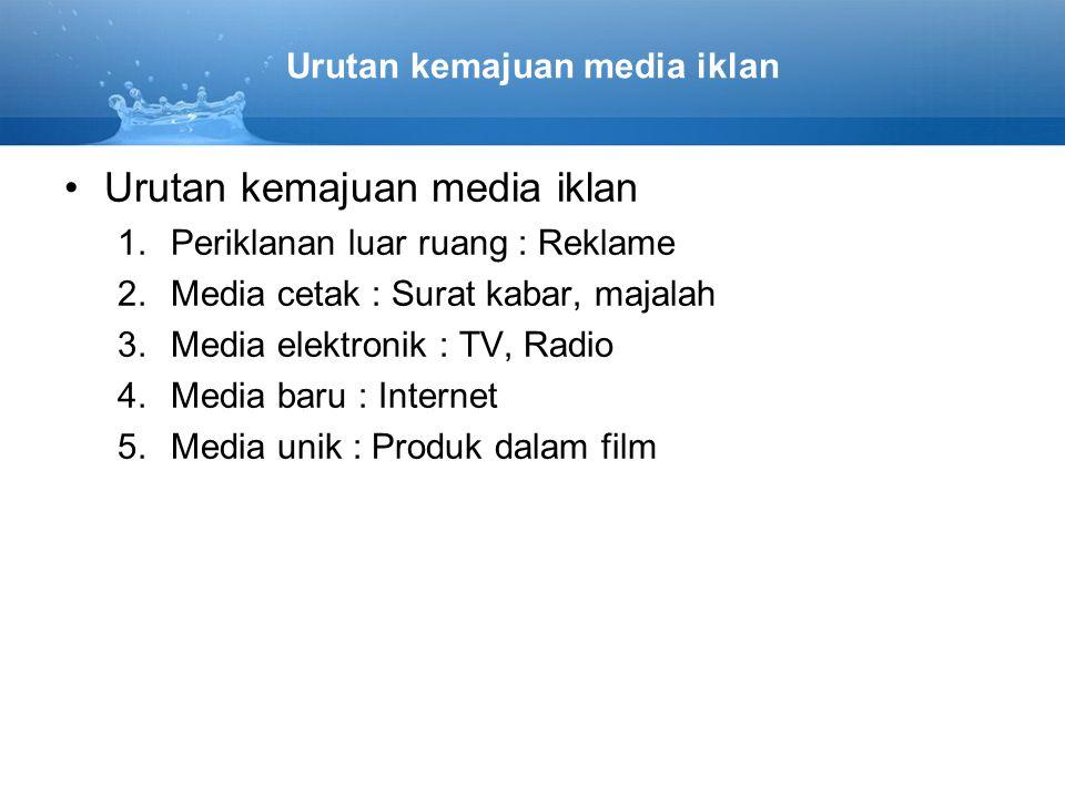 Urutan kemajuan media iklan