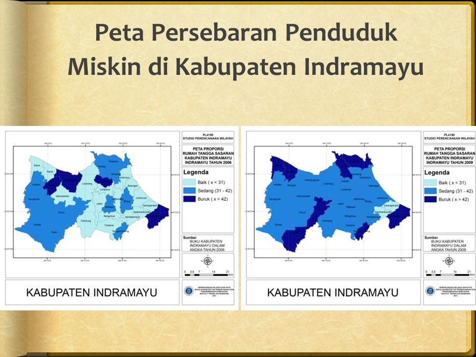 Peta Persebaran Penduduk Miskin di Kabupaten Indramayu