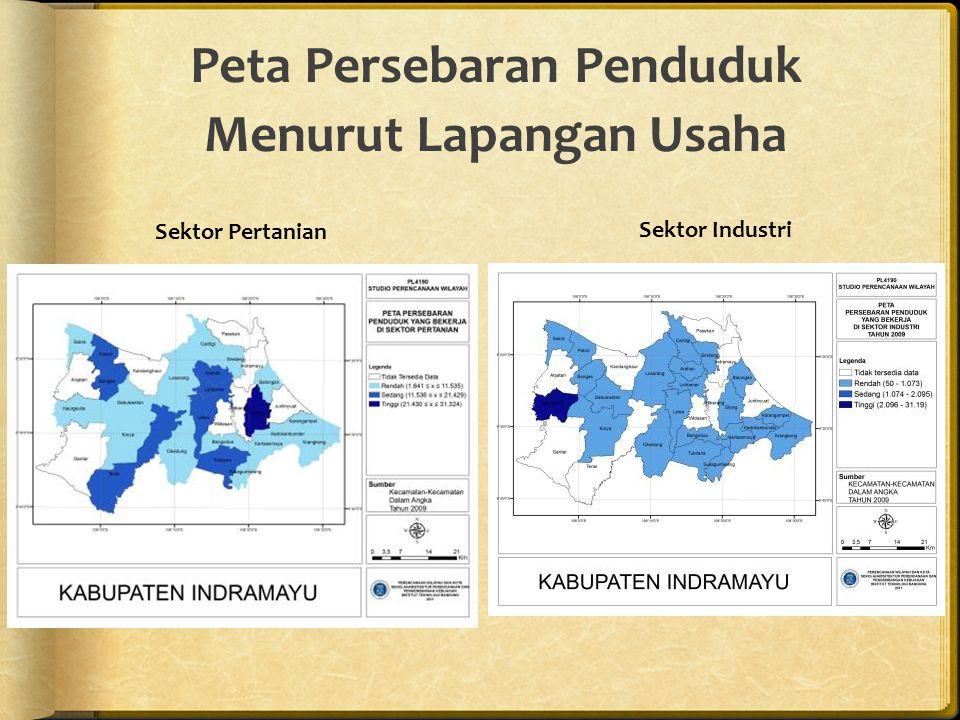 Peta Persebaran Penduduk Menurut Lapangan Usaha
