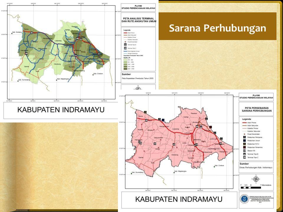 Sarana Perhubungan Kecamatan yang memiliki terminal/sub terminal/perhentian angkutan umum mempunyai akses yang lebih luas.