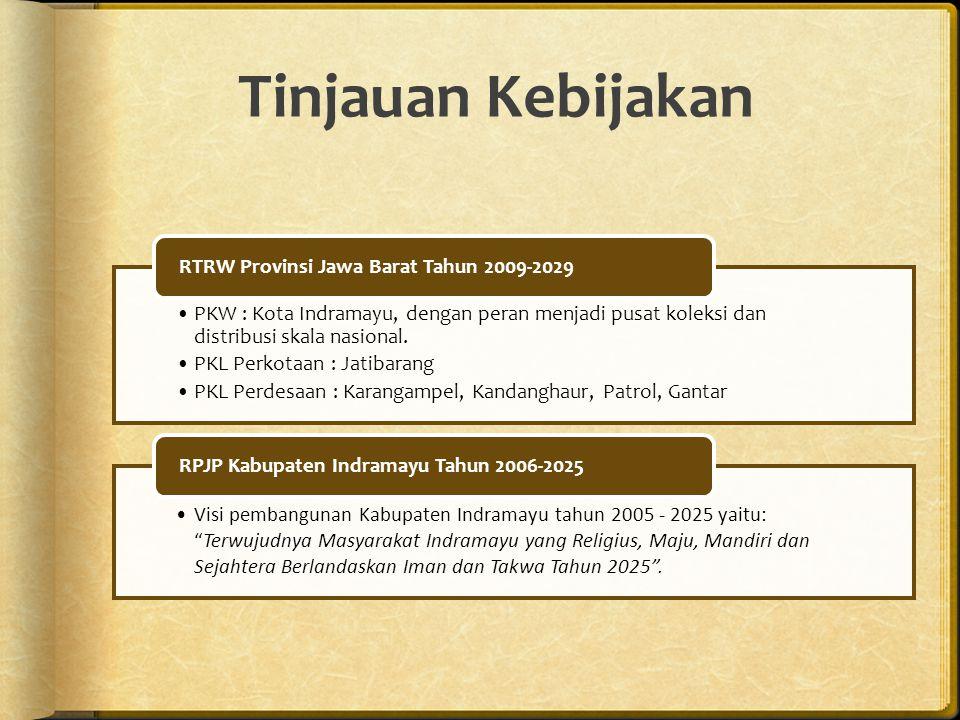 Tinjauan Kebijakan PKW : Kota Indramayu, dengan peran menjadi pusat koleksi dan distribusi skala nasional.
