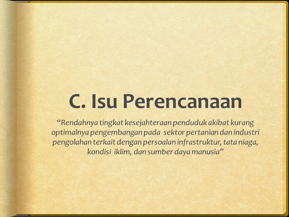 C. Isu Perencanaan