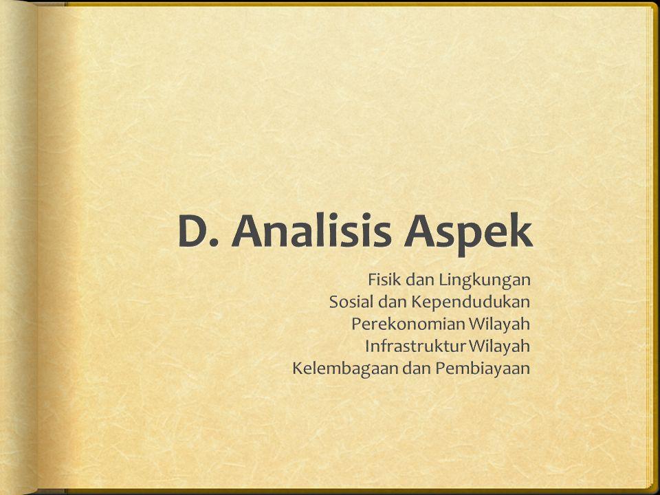 D. Analisis Aspek Fisik dan Lingkungan Sosial dan Kependudukan