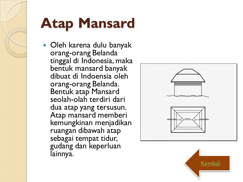 Atap Mansard