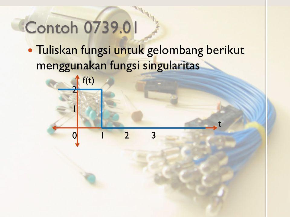 Contoh 0739.01 Tuliskan fungsi untuk gelombang berikut menggunakan fungsi singularitas. f(t) t. 1.