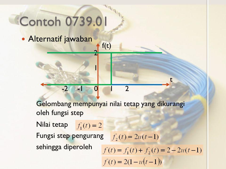 Contoh 0739.01 Alternatif jawaban f(t) t -1 -2 1 2