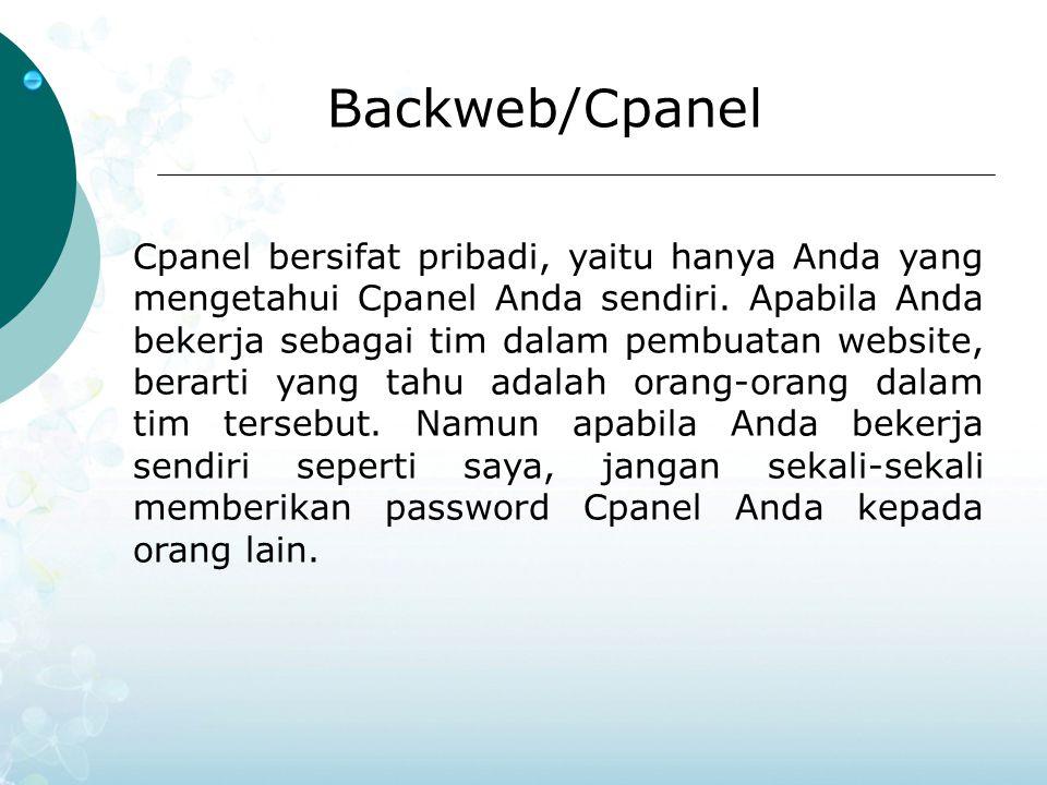 Backweb/Cpanel