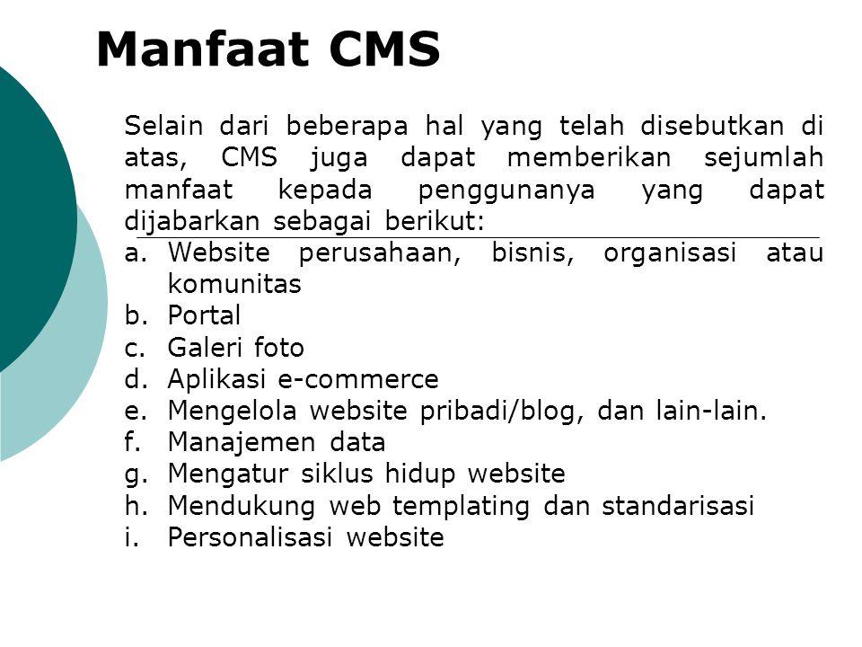 Manfaat CMS