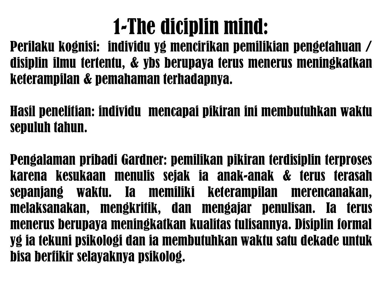 1-The diciplin mind: