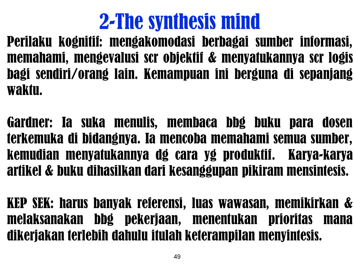 2-The synthesis mind