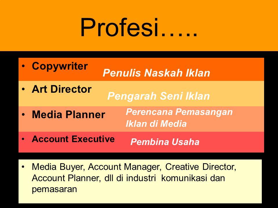 Profesi….. Copywriter Penulis Naskah Iklan Art Director