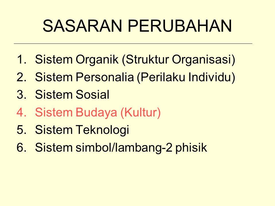 SASARAN PERUBAHAN Sistem Organik (Struktur Organisasi)
