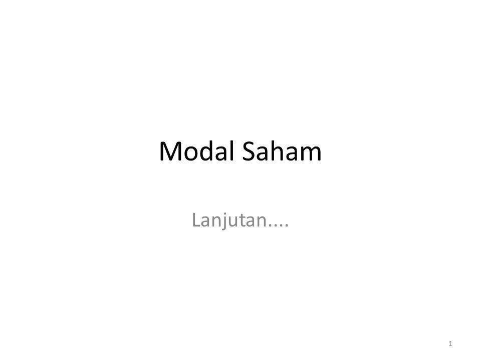 Modal Saham Lanjutan....